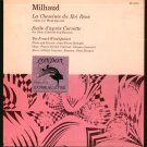 Milhaud La cheminee du roi Rene French Wind Quintet L'OISEAU-L DL 53002 London 10""