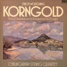 ERICH KORNGOLD STRING QUARTETS 1 & 3 CHILINGIRIAN RCA UK RL 25097 NEAR MINT LP