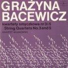 GRAZYNA BACEWICZ STRING QUARTETS Nos. 3, 4, 5 & 7 WARSAW QUARTET POLISH MUZA LPs