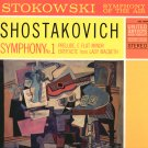 LEOPOLD STOKOWSKI SHOSTAKOVICH SYMPHONY No. 1 United Artists UAS 8004 STEREO LP