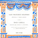 Malipiero Delle Canzoni Dimitri Mitropoulos Bach Casella Fonit Cetra LPU 20 1950 Italy