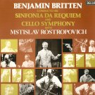 Britten Sinfonia Da Requiem Cello Concerto Rostopovich DECCA SXL 6641 MINT