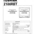 TOSHIBA 2100RB Service Manual with Schematics Circuits on Mauritron CD