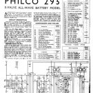 Philco 295 Technical Repair Manual Mauritron