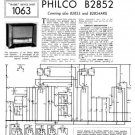 Philco B2852 Technical Repair Manual Mauritron