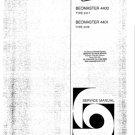 B & O Beomaster4400 Service Manual mts#45