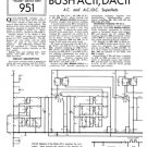 Bush AC11 Vintage Service Circuit Schematics mts#50