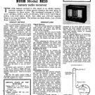 Bush BE15 Vintage Service Circuit Schematics mts#59