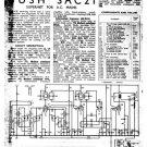 Bush SAC21 Vintage Service Circuit Schematics mts#87