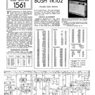 Bush TR102 Vintage Service Circuit Schematics mts#99