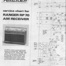 Hacker Ranger RP70 Service Manual Schematics. mts#206