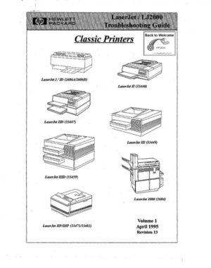 HP Laserjet 2000 Service Manual. Mauritron#235