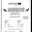 Telequipment D65 Manual Schematics. Mauritron#449