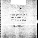 Telequipment S54R Manual Schematics. Mauritron#468