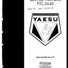 Yaesu FTC2640 Service Manual. Mauritron#476