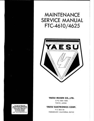 yaesu ftc4625 service manual mauritron 478. Black Bedroom Furniture Sets. Home Design Ideas