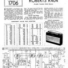 Roberts R404 Service Schematics. Mauritron#531