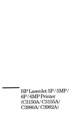 HP C3150A Service Manual. Mauritron#601