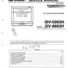 Sharp DV5150H Service Manual. Mauritron #804