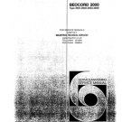 B & O Beocord 2200 2921 Service Manual. Mauritron #941