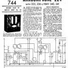 Marconi 223 Service Schematics. Mauritron #1007