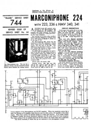 Marconi 224 Service Schematics. Mauritron #1008