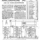 Marconi 345 Service Schematics. Mauritron #1023