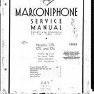 Marconi 576 Service Schematics. Mauritron #1035