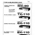 Aiwa TX-110 Service Manual. Mauritron #1137