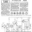 Philco 100 Trader Service Schematics. Mauritron #1162