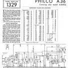 Philco A3610U Trader Schematics. Mauritron #1190