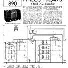 Philco A547B Trader Service Schematics. Mauritron #1202