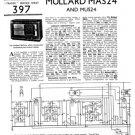 Mullard MAS24 Service Schematics. Mauritron #1216