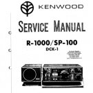 Kenwood SP100 Service Manual. Mauritron #1248