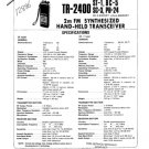Kenwood TR2400 Service Manual. Mauritron #1261