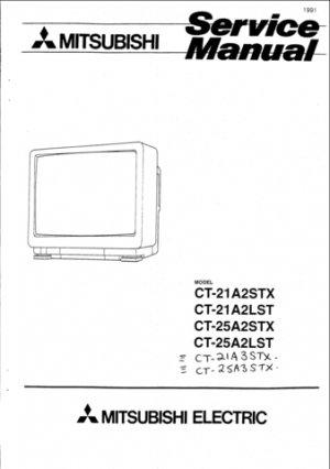 Mitsubishi CT-21A2STX Service Manual. Mauritron #1280