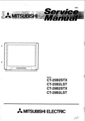 Mitsubishi CT-25B2LST Service Manual. Mauritron #1298