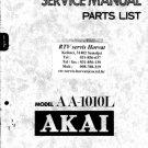 Akai AA1010L Service Manual. Mauritron #1548