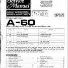 Pioneer A60 Service Manual. Mauritron #1673