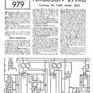 Ferguson 299RG Service Information. Mauritron #1721