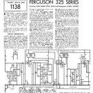 Ferguson 325 Service Information. Mauritron #1738
