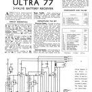 Ultra 77 Vintage Service Schematics. Mauritron #1778