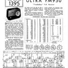 Ultra FM950 Vintage Service Schematics. Mauritron #1786