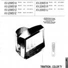 Sony KV20WS1 Service Manual. Mauritron # 1850