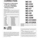 Sharp MDX8 Service Manual. Mauritron #1895