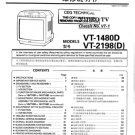 Sharp VT1480D Service Manual. Mauritron #2089