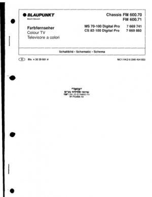 Blaupunkt CS82-100 Digital Pro Manual Mauritron #2220