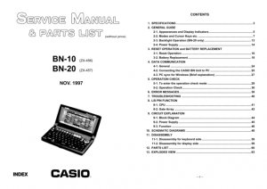 Casio BN20 Service Manual Mauritron #2303