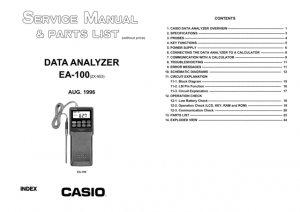 Casio EA100 Service Manual Mauritron #2324