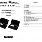 Casio SF4600RS Service Manual Mauritron #2336